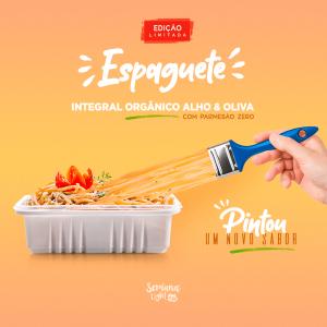 Novo Espaguete Integral Orgânico Alho & Oliva com Parmesão Zero